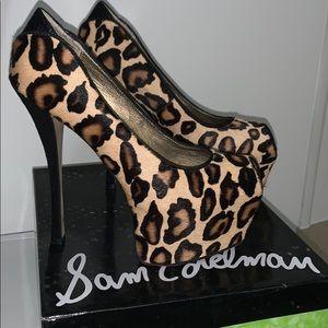 Leopard high platform heels- Sam Edelman